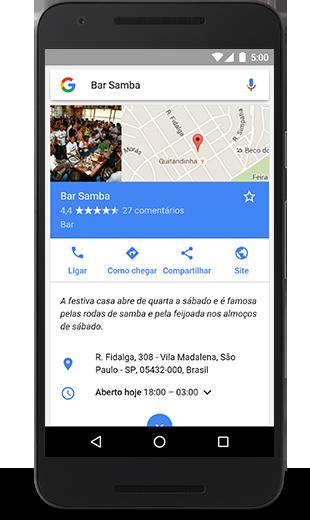 Google Meu Negócio Smartphone