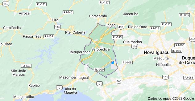 Mapa de Seropédica - RJ