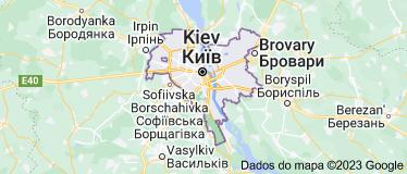 Mapa de Kiev Ucrânia