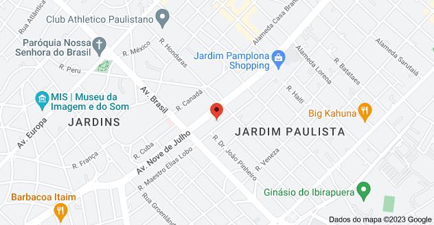 Mapa de Rua Maestro Elias Lobo, 280 - Jardim Paulista, São Paulo - SP