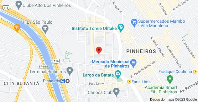 Mapa de R. Ferreira de Araújo, 741 - Pinheiros, São Paulo - SP, 05428-002