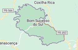 Mapa de Bom Sucesso do Sul