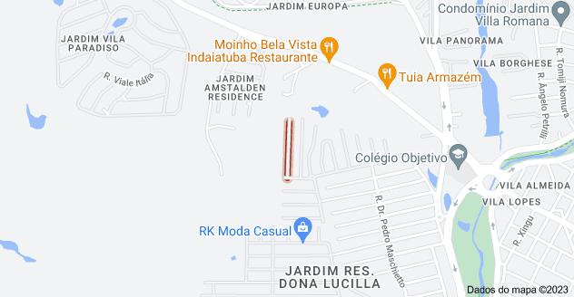 Mapa de R. Ursolina Pereira de Aquino - Jardim Res. Maria Dulce, Indaiatuba - SP