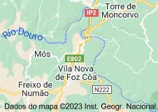 Mapa de vila nova de foz côa