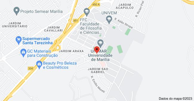 Mapa de R. Gabriel Santos de Almeida & R. Dr. Próspero Cecílio Coimbra - Jardim Sao Gabriel, Marília - SP, 17525-160