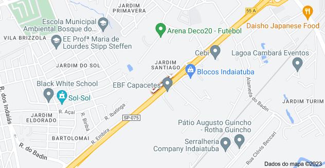Mapa de R. Shigenobu Fujii - Jardim Santiago, Indaiatuba - SP