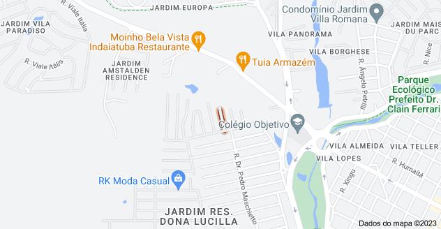 Mapa de R. Adriana Munhóes Viadana - Jardim Res. Maria Dulce, Indaiatuba - SP