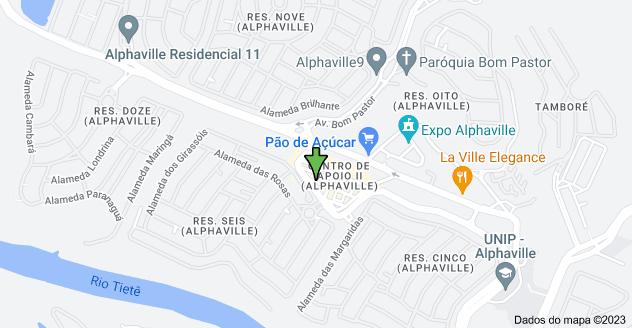 Mapa de Calçada Aldebarã, 180 - Centro de Apoio II (Alphaville), Santana de Parnaíba - SP, 06541-055