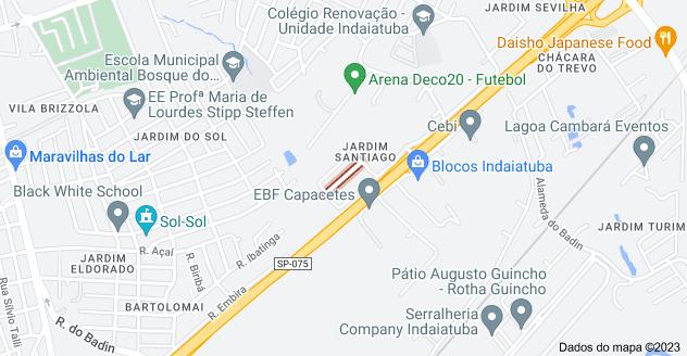 Mapa de R. Yoshihisa Naruki - Jardim Santiago, Indaiatuba - SP