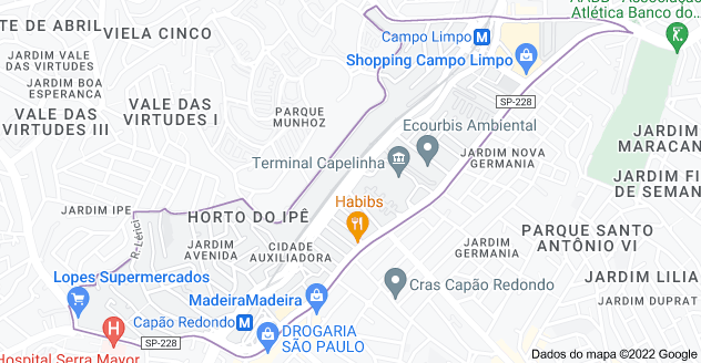 Mapa Desentupidora Cidade Auxiliadora