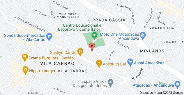 Mapa de Praça Haroldo Daltro, 56 - Vila Nova Manchester, São Paulo - SP, 03444-090