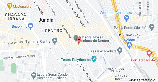 Mapa de Rua Naim Miguel, 17 - Centro, Jundiaí - SP, 13201-063