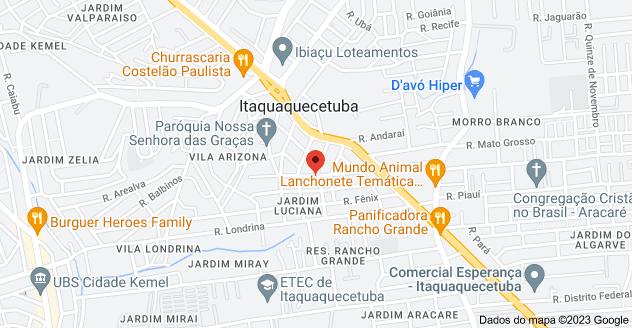 Mapa de R. Sertaneja, 277 - Jardim Luciana, Itaquaquecetuba - SP