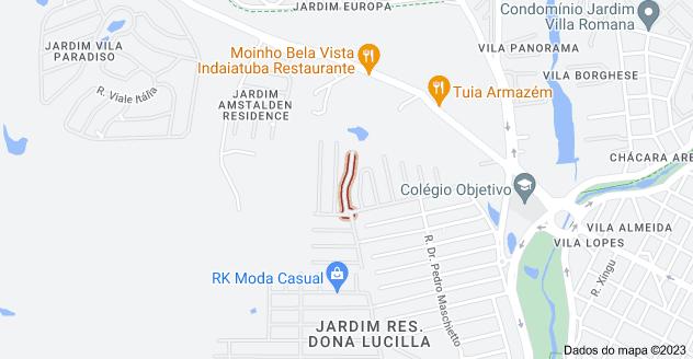Mapa de R. Antônio Perez Canovas - Jardim Res. Maria Dulce, Indaiatuba - SP