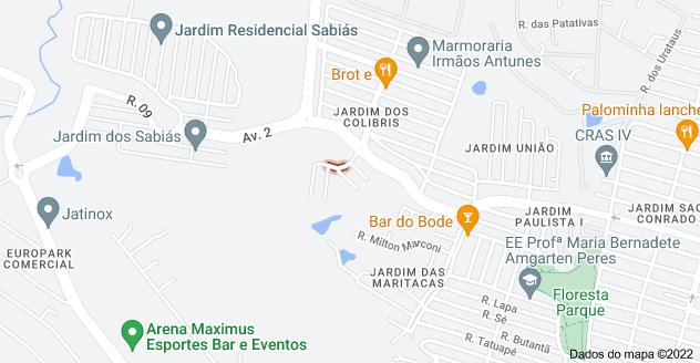 Mapa de R. Alcides Maria Netto - Jardim dos Colibris, Indaiatuba - SP