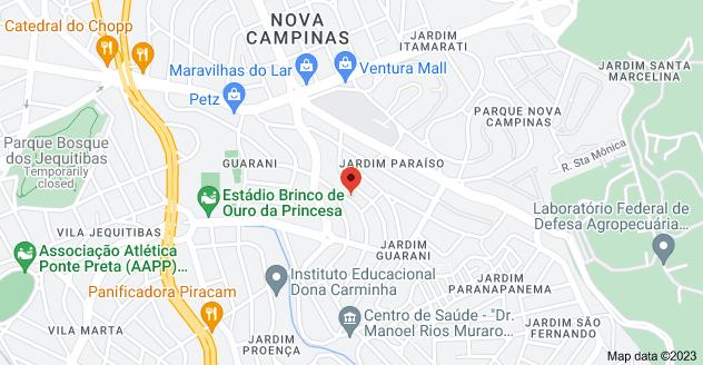 Map of R. Joaquim de Almeida Peta, 75 - Jardim Guarani, Campinas - SP, 13100-218