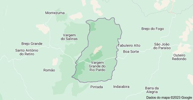Mapa de Vargem Grande do Rio Pardo - MG, 39535-000
