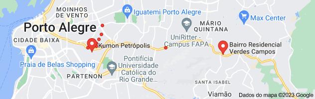 Mapa de bairro petropolis
