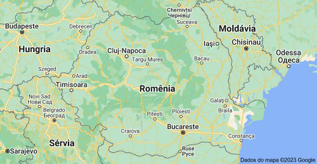 Mapa de Roménia