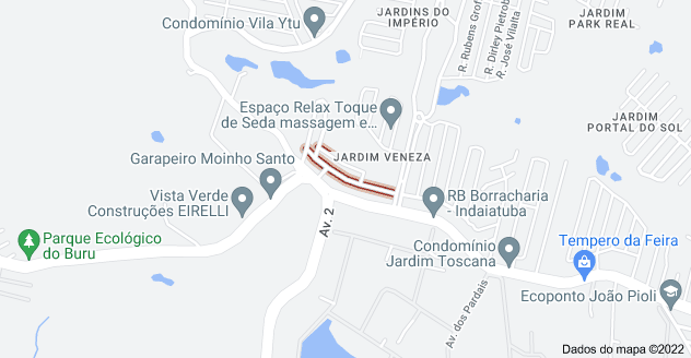 Mapa de R. Brasilio Lelli - Jardim Veneza, Indaiatuba - SP