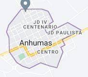 Map of Anhumas Brazil