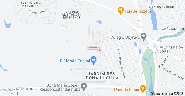 Mapa de R. Thereza Previtalli Moro - Jardim Res. Maria Dulce, Indaiatuba - SP